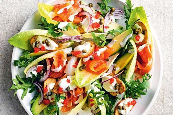 Salad cá hồi Nauy